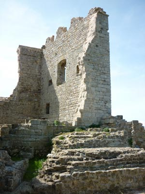 Castle in the middle ages: the ruins of the palace at La Rocca di Campiglia Marittima
