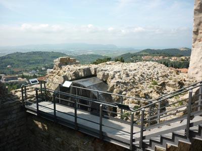 The middle ages castle cistern at La Rocca di Campiglia Marittima