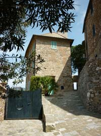 The entrance to the middle ages castle La Rocca di Campiglia Marittima