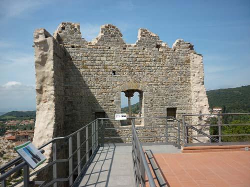 Middle ages castle: La Rocca di Campiglia Marittima in Maremma Italy