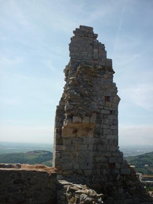 Ruins of the middle ages castle tower at La Rocca di Campiglia Marittima