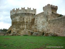 Rocca di Populonia castle in Tuscany