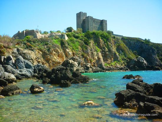 Rocca di Talamone castle Tuscany