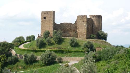 La Rocca Pisana or Castello di Scarlino in Maremma, Italy