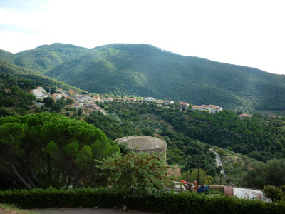 View from La Rocca Pisana: Scarlino Castle, Maremma Italy