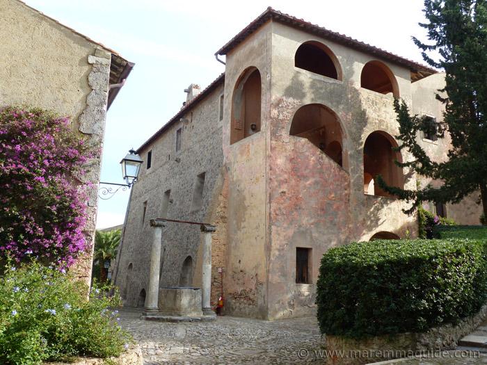 Inside the Rocca Spagnola in Porto Ercole.