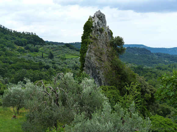 Rock formation Roccalbegna