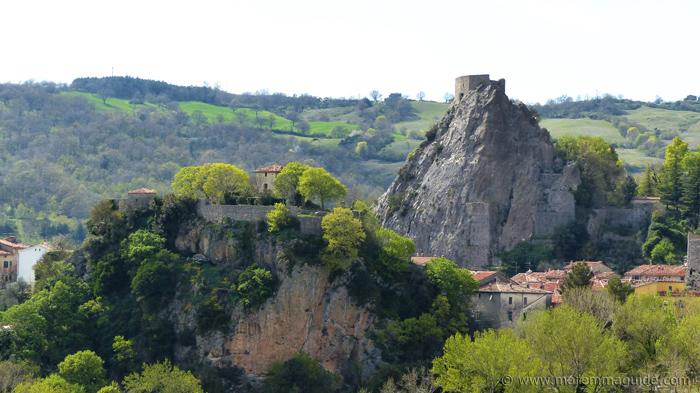 Roccalbegna Tuscany Italy: the Cassero and Rocca Aldobrandesca