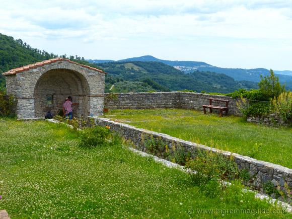 Roccalbegna Sienese Keep garden