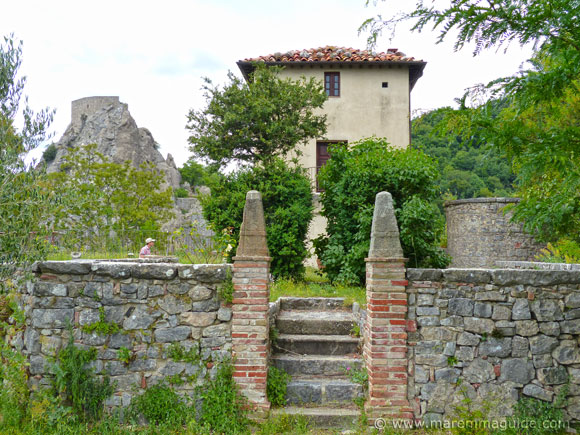 The Sienese Keep fortress in Roccalbegna Tuscany.