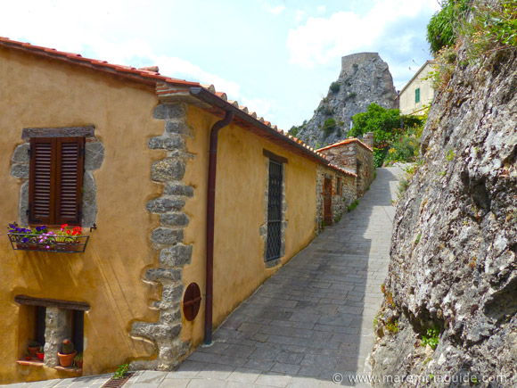 Medieval street in Roccalbegna Tuscany