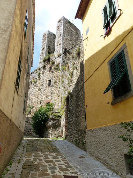 Medieval tower in Roccalbegna Tuscany