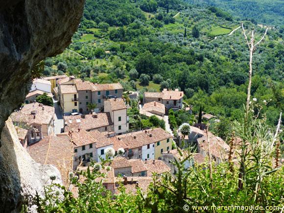 Rocalbegna Tuscany view from La Pietra