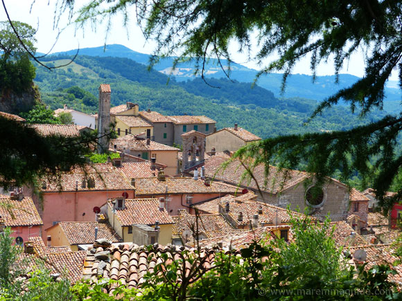 Roccalbegna in Tuscany.