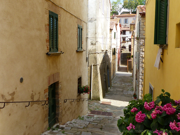 Roccalbegna Tuscany Italy medieval street