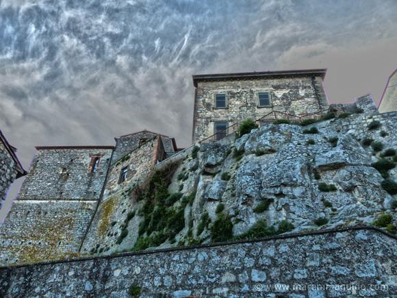 Maremma hill town Roccastrada Tuscany Italy