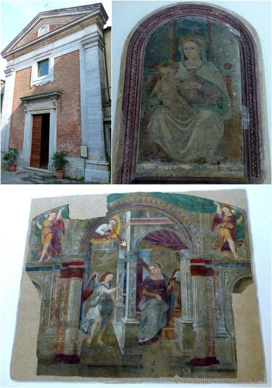 Roccastrada Chiesa di San Nicola and frescoes by Giovanni Maria di Ser Giovanni Tolosani