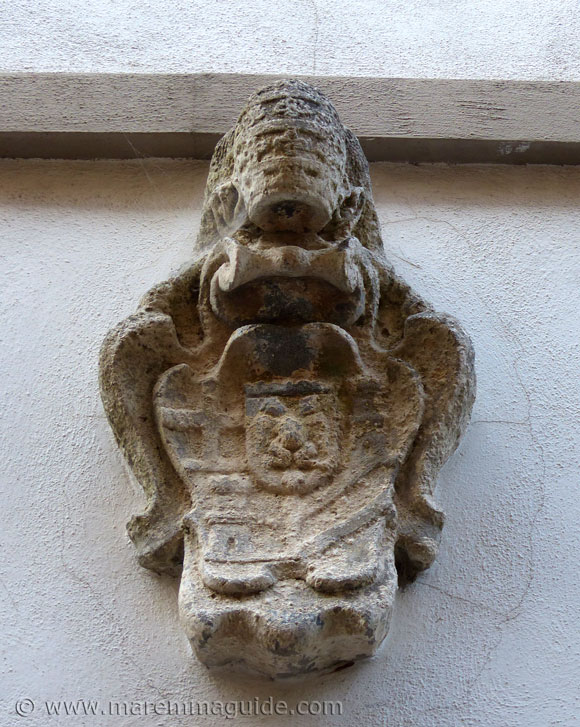 Roccastrada coat of arms Tuscany Italy