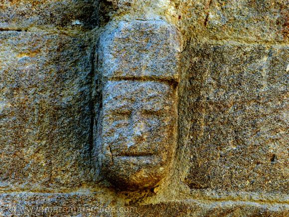 Romanesque stone face Sticciano
