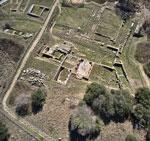 Roman Basilica at Rusellae in Maremma, Italy