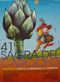 Maremma Sagre in May: poster for the 41st Sagra del Carciofo in Riotorto