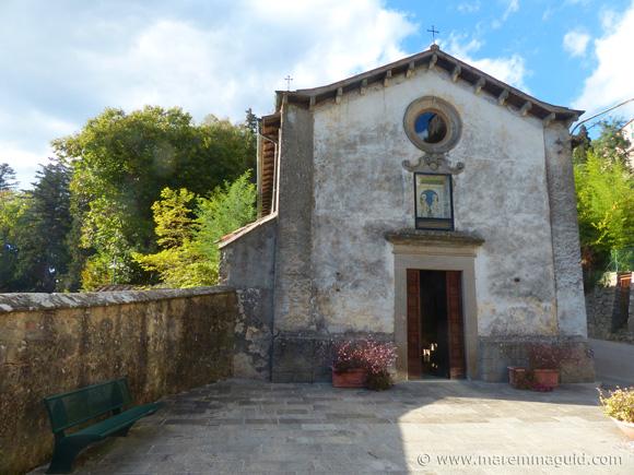 Santa fiora Chiesa della Madonna delle Nevi: the Maremma church with a floor of glass.