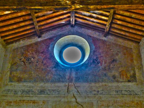 Paradise fresco in Chiesa della Madonna delle Neve in Santa Fiora.