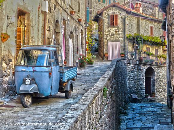 Santa Fiora Tuscany: the Terziere Borgo