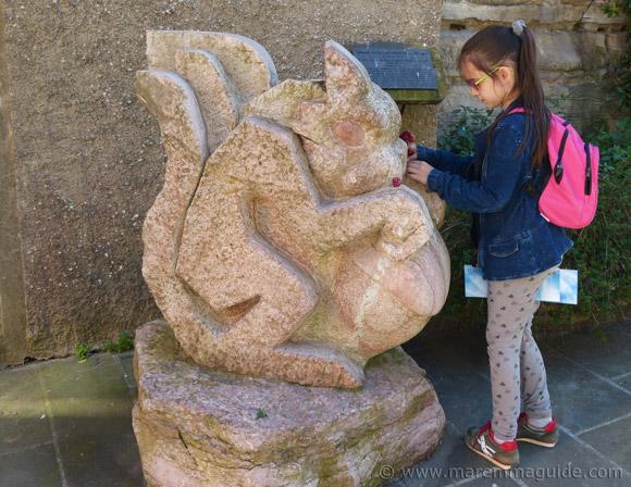 Sassetta Simposio di Scultura: squirrel sculpture.