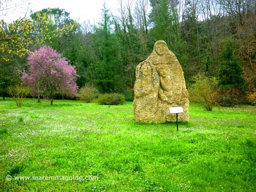 Sasso Pisano public garden in spring, Maremma Tuscany