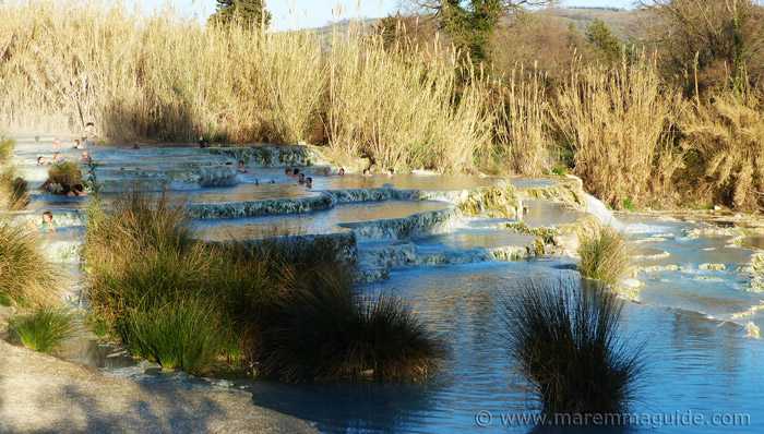Saturnia thermal baths and springs Tuscany Italy
