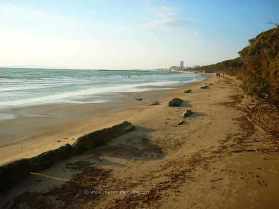 Scarlino beach La Polveriera, Maremma Tuscany Italy