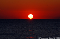 Tyrrhenian Sea ocean sunset