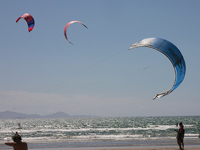 Kitesurfing at Puntone beach, Maremma