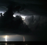 Lightening storm at sea, Porto Santo Stefano, Monte Argentario