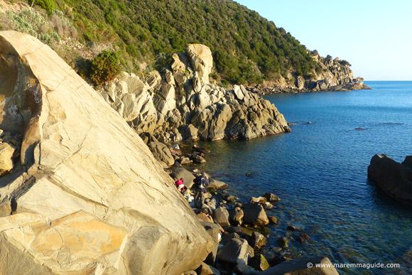 Rocky shore Maremma Tuscany