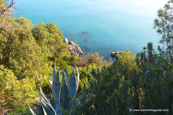 Secret Maremma cove in Tuscany
