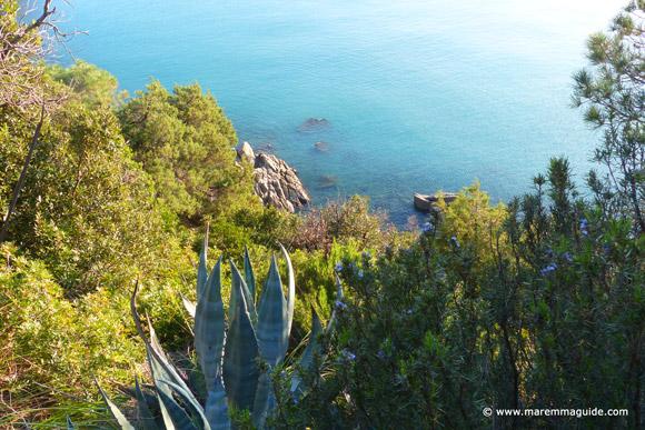 Secret Maremma cove in Tuscany