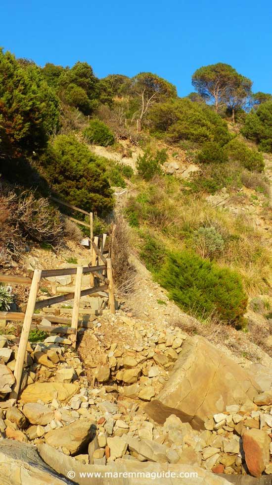 Cliff footpath Punta Ala Tuscany