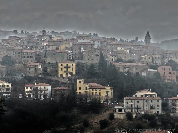 Seggiano Tuscany Italy in December.