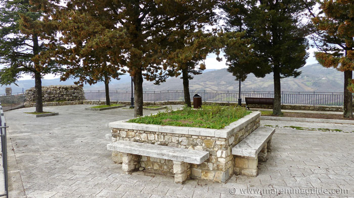 Piazza on top of the ruin of Semproniano castle