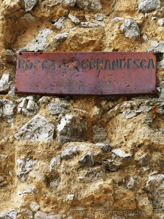 Rocca Aldobrandesca detail Semproniano.