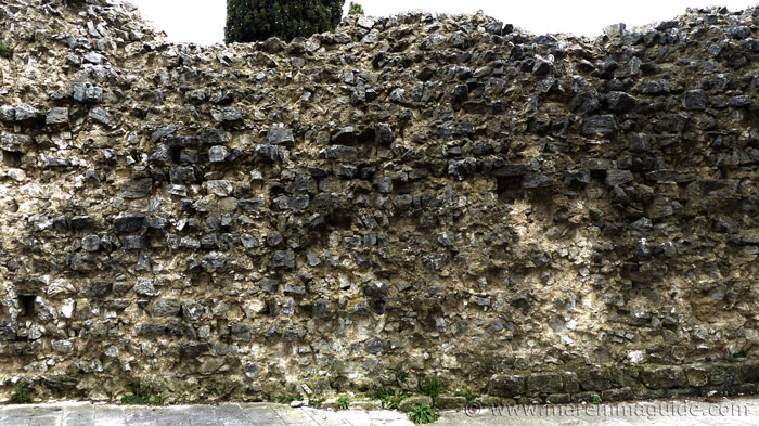 Rocca Aldobrandesca wall Semproniano wall detail