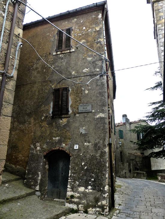 Semproniano Tuscany Italy: Vicolo San Vincenzo