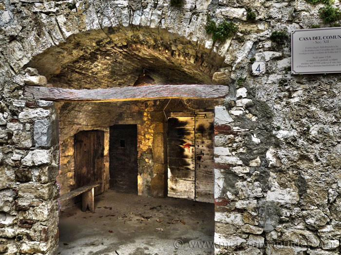 Semproniano Tuscany Italy: the 12th century Casa del Comune.