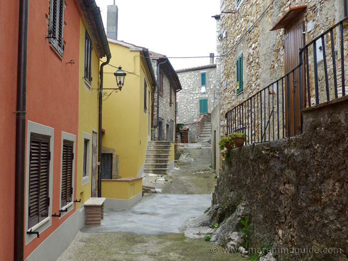 Newly painted houses in Semproniano