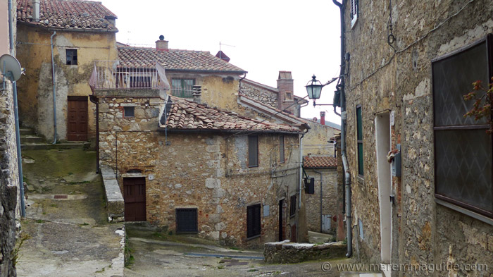 Medieval houses in Semproniano Italy