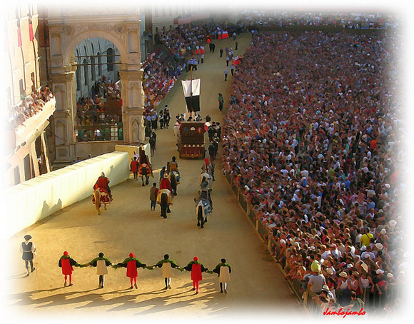 Siena Italy Palio in August