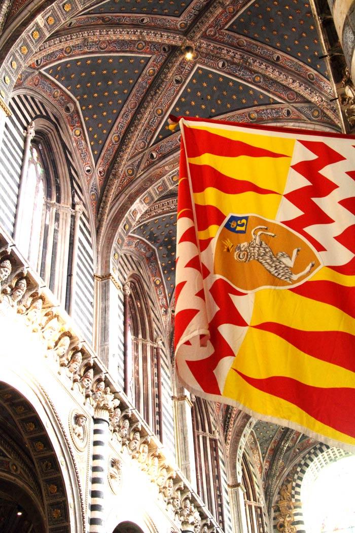 Siena Palio banner.