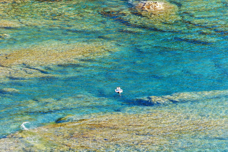 Snorkelling in Tuscany Italy.